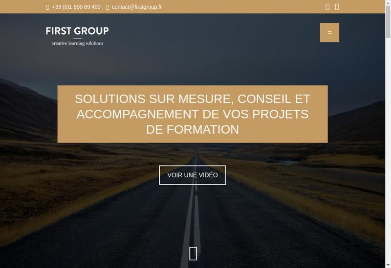Capture d'écran du site de First Group