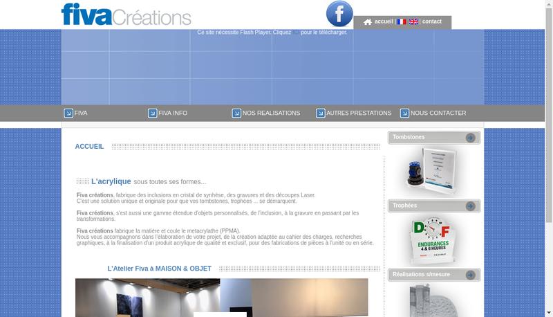 Capture d'écran du site de Fiva Creations