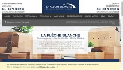 Site internet de La Fleche Blanche