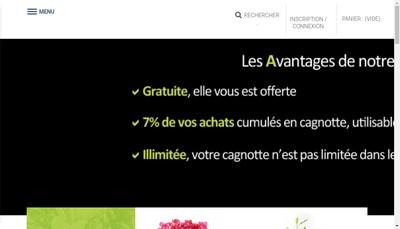 Site internet de Fleurs O Naturel
