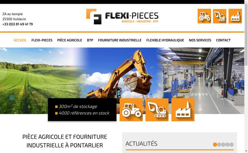 Capture d'écran du site de Flexi-Pieces