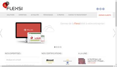 Capture d'écran du site de Flexsi