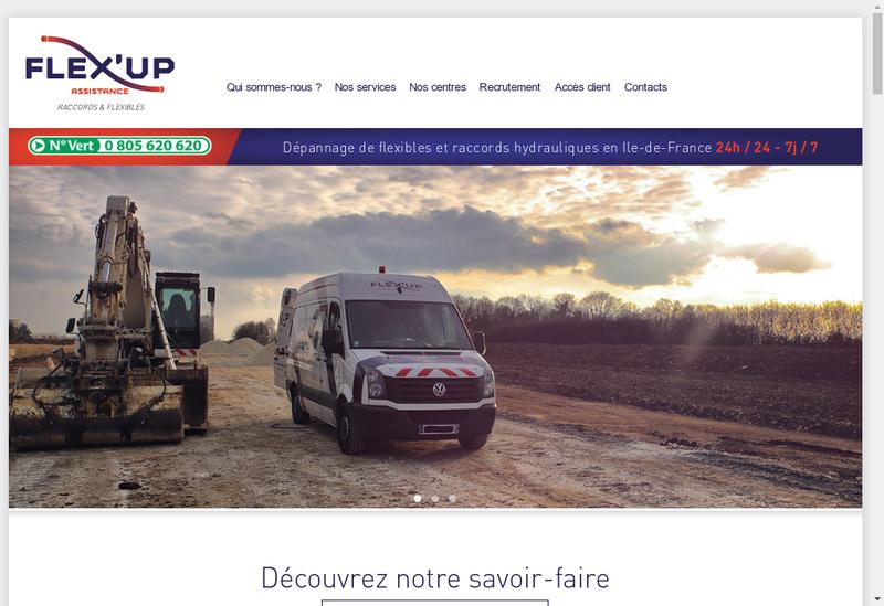 Capture d'écran du site de Flex'Up