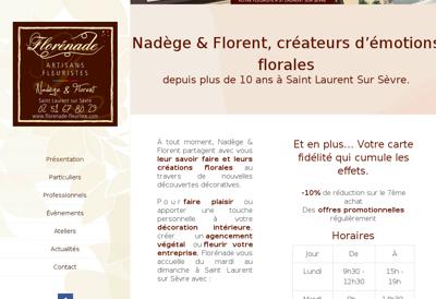 Capture d'écran du site de Florenade