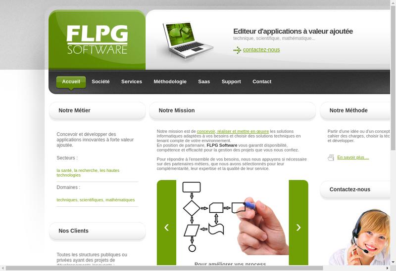 Capture d'écran du site de Flpg Software