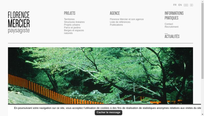 Capture d'écran du site de Florence Mercier Paysagiste