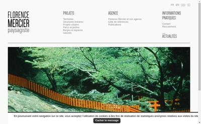 Site internet de Florence Mercier Paysagiste