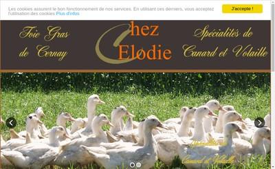 Site internet de Chez Elodie