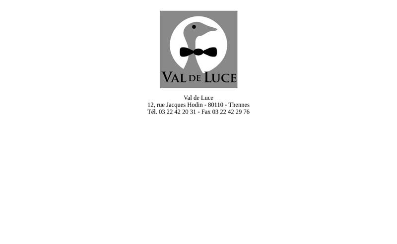 Capture d'écran du site de Les Canards du Val de Luce