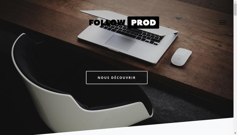 Capture d'écran du site de Follow Prod