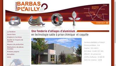 Capture d'écran du site de Barbas et Plailly