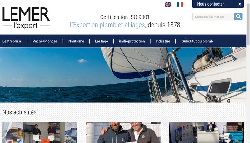 Capture d'écran du site de Fonderie Lemer