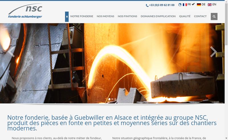 Capture d'écran du site de Fonderie Schlumberger