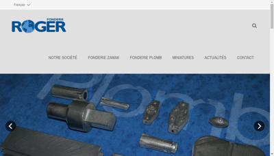 Capture d'écran du site de Fonderie Roger