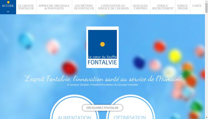Capture d'écran du site de Fontalvie