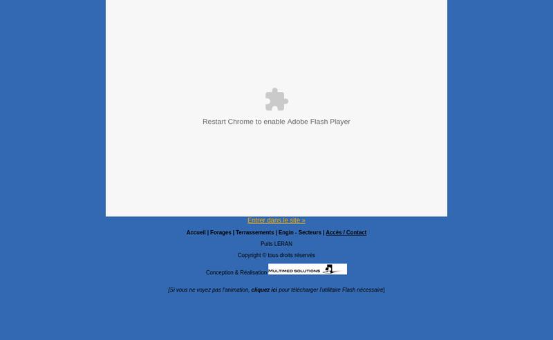 Capture d'écran du site de EURL Leran