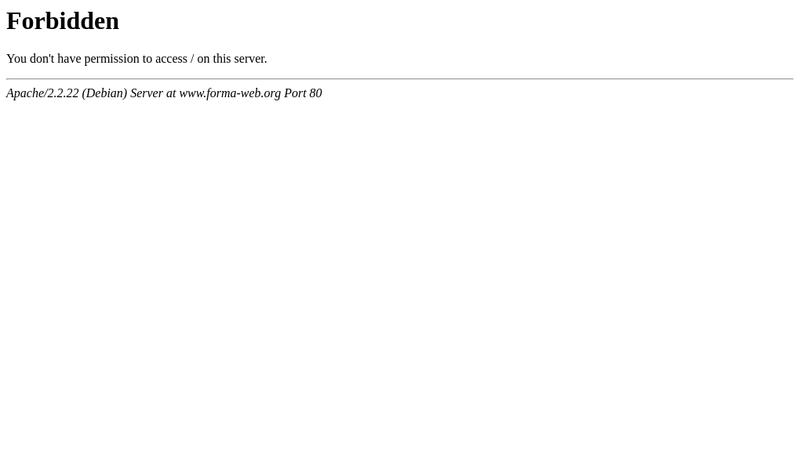 Capture d'écran du site de Forma Web