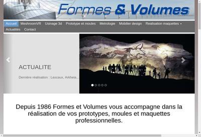 Site internet de Formes et Volumes