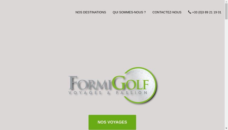 Capture d'écran du site de Formigolf
