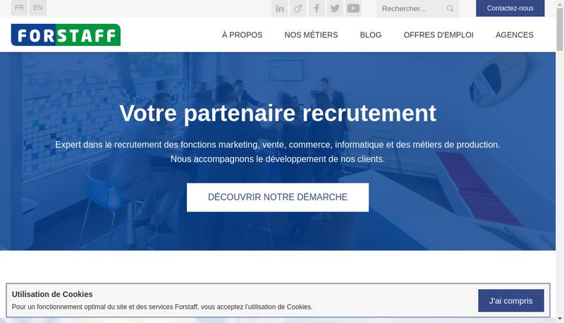 Capture d'écran du site de Forstaff Holding