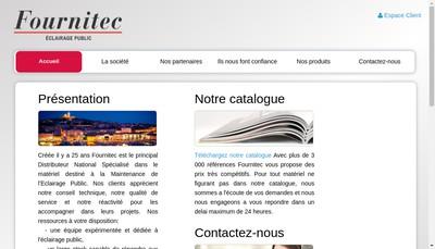 Site internet de Fournitec