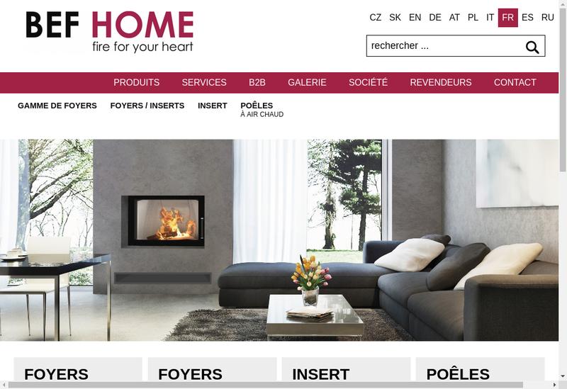 Capture d'écran du site de Bef Home France