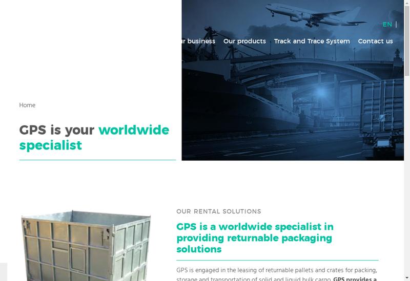 Capture d'écran du site de Groupe Gps