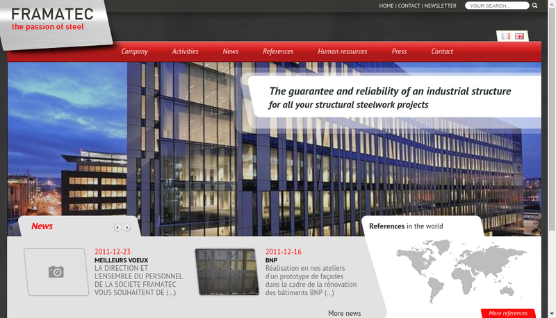 Capture d'écran du site de Framatec