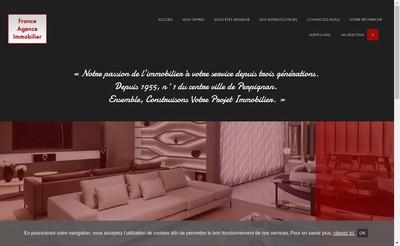 Site internet de France Agence Immobilier