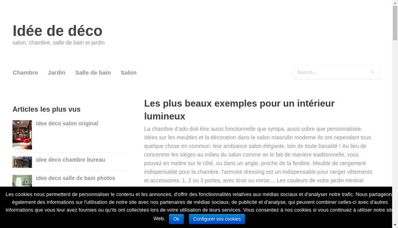 Capture d'écran du site de Ledeclair