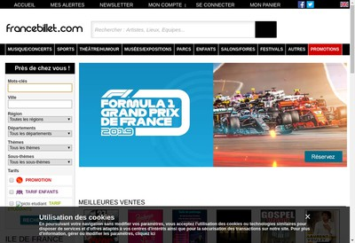 Site internet de France Billet