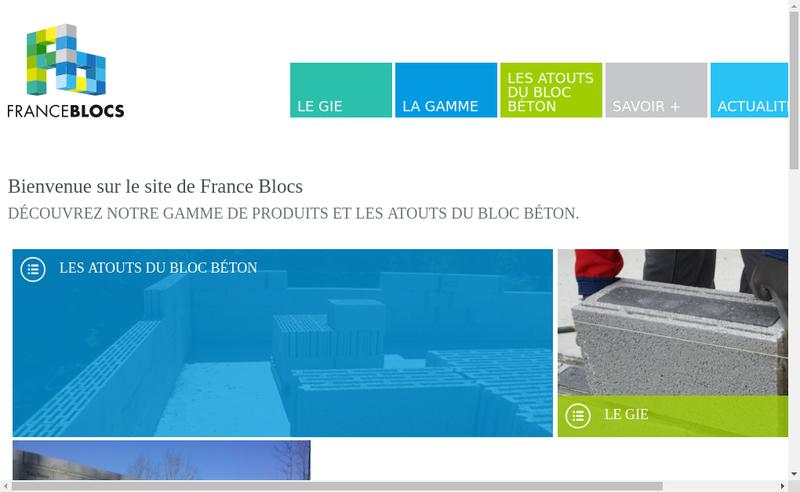 Capture d'écran du site de France Blocs