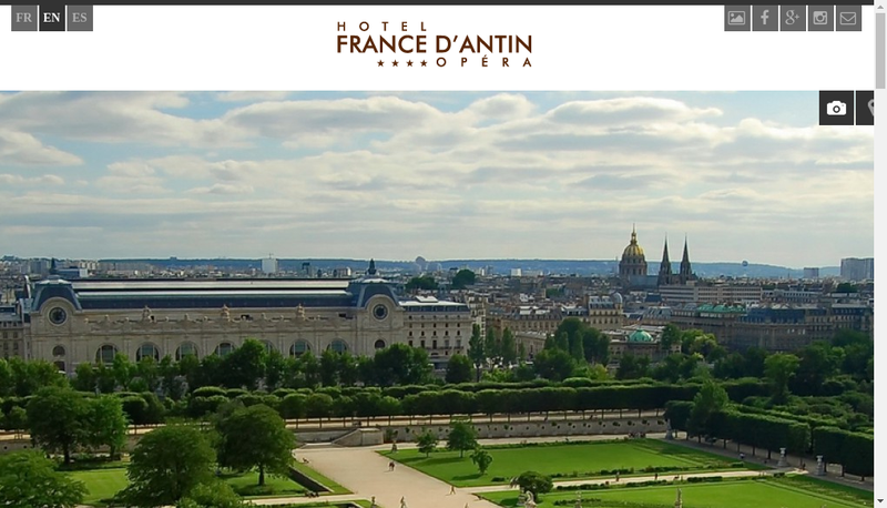 Capture d'écran du site de Hotel de France d'Antin