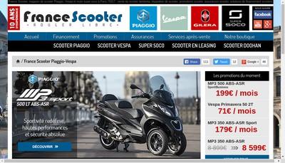 Site internet de France Scooter Ternes