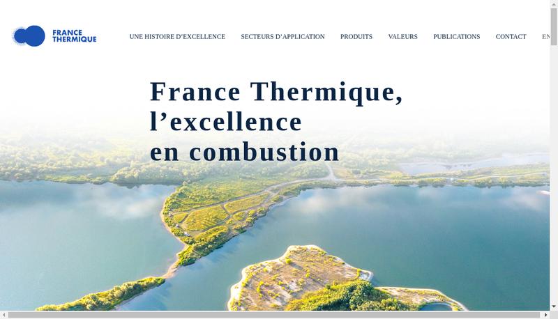 Capture d'écran du site de France Thermique