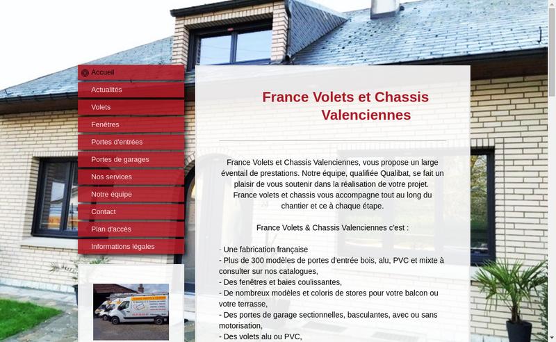 Capture d'écran du site de France Volets
