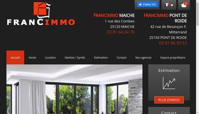 Site internet de Francimmo Maiche