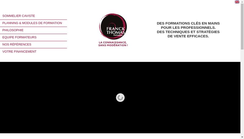 Capture d'écran du site de Franck Thomas Formation