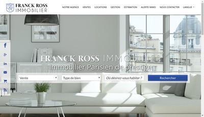 Site internet de Franck Ross Immobilier