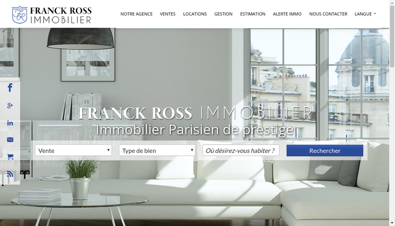Capture d'écran du site de Franck Ross Immobilier