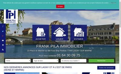 Site internet de Frank Pila Immobilier