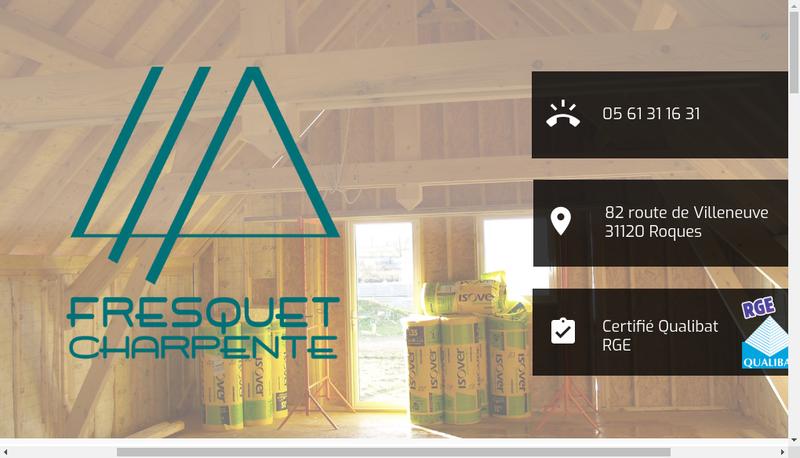Capture d'écran du site de SARL Fresquet Charpente