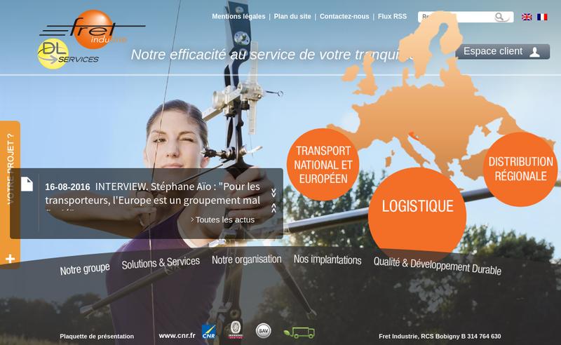 Site internet de Fret Industrie