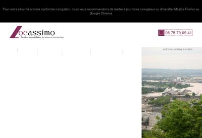 Capture d'écran du site de FRH Electricite