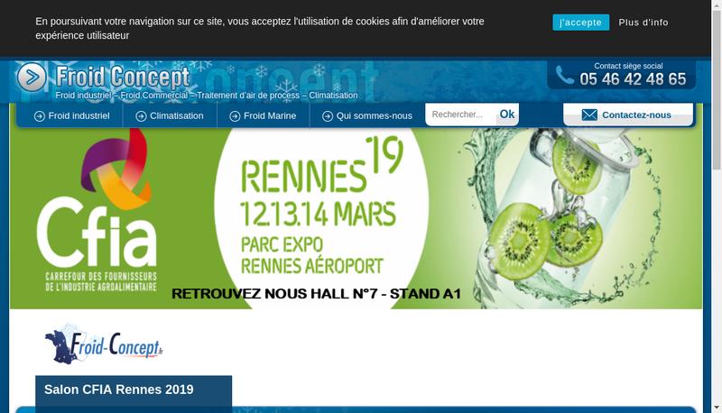 Capture d'écran du site de S Froid Concept