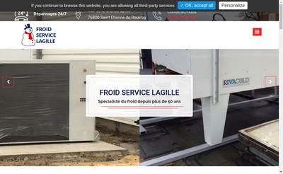 Site internet de Froid Service Lagille