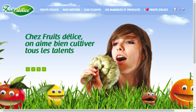 Capture d'écran du site de Yarden Jus de Fruits