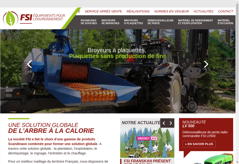 Capture d'écran du site de Fsi Franskan