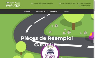 Site internet de Fussy Pieces Autos