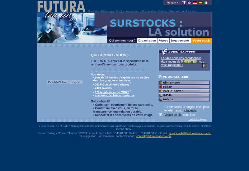 Capture d'écran du site de Futura Finances